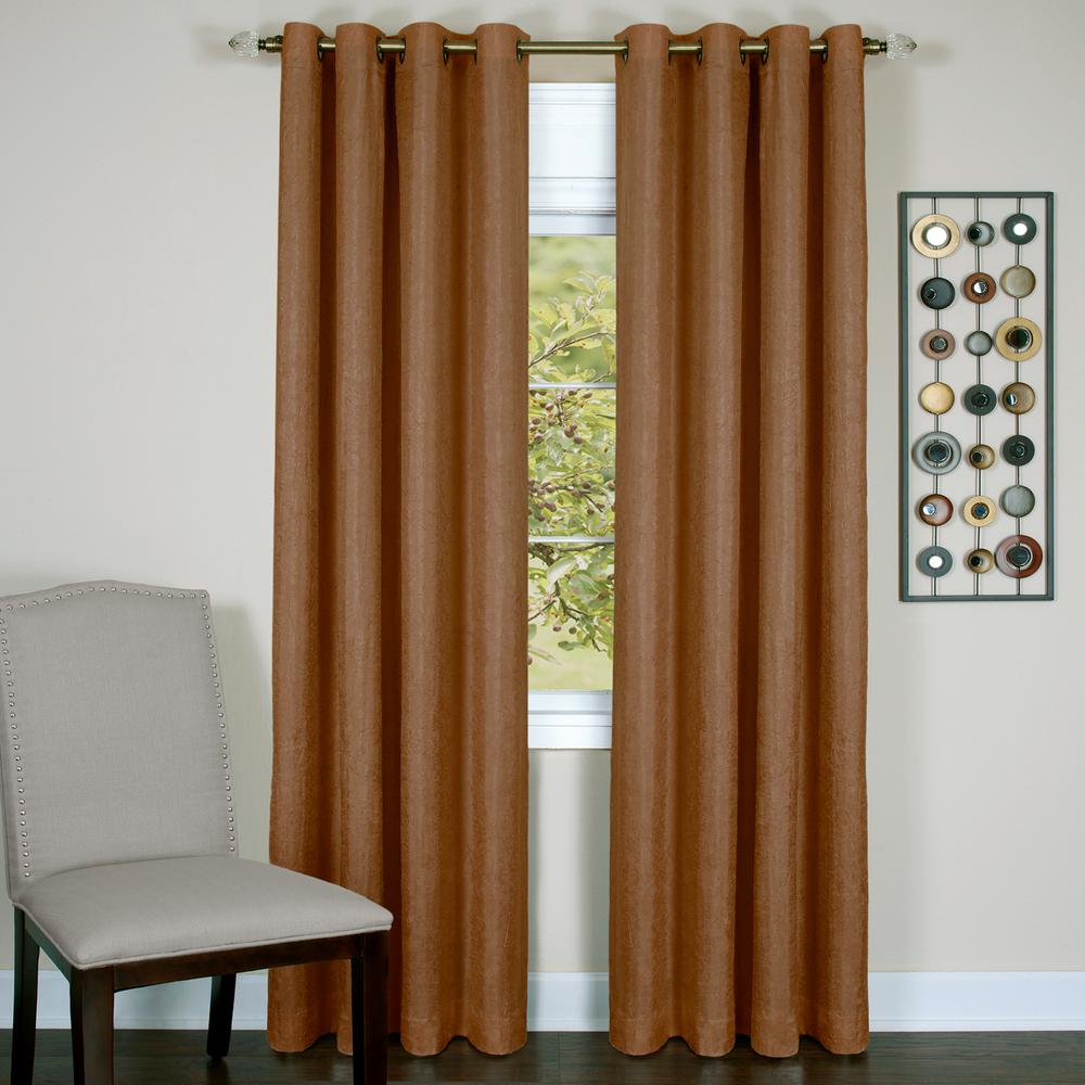 Achim Taylor Cinnabar Polyester Lined Grommet Panel 50 In W X