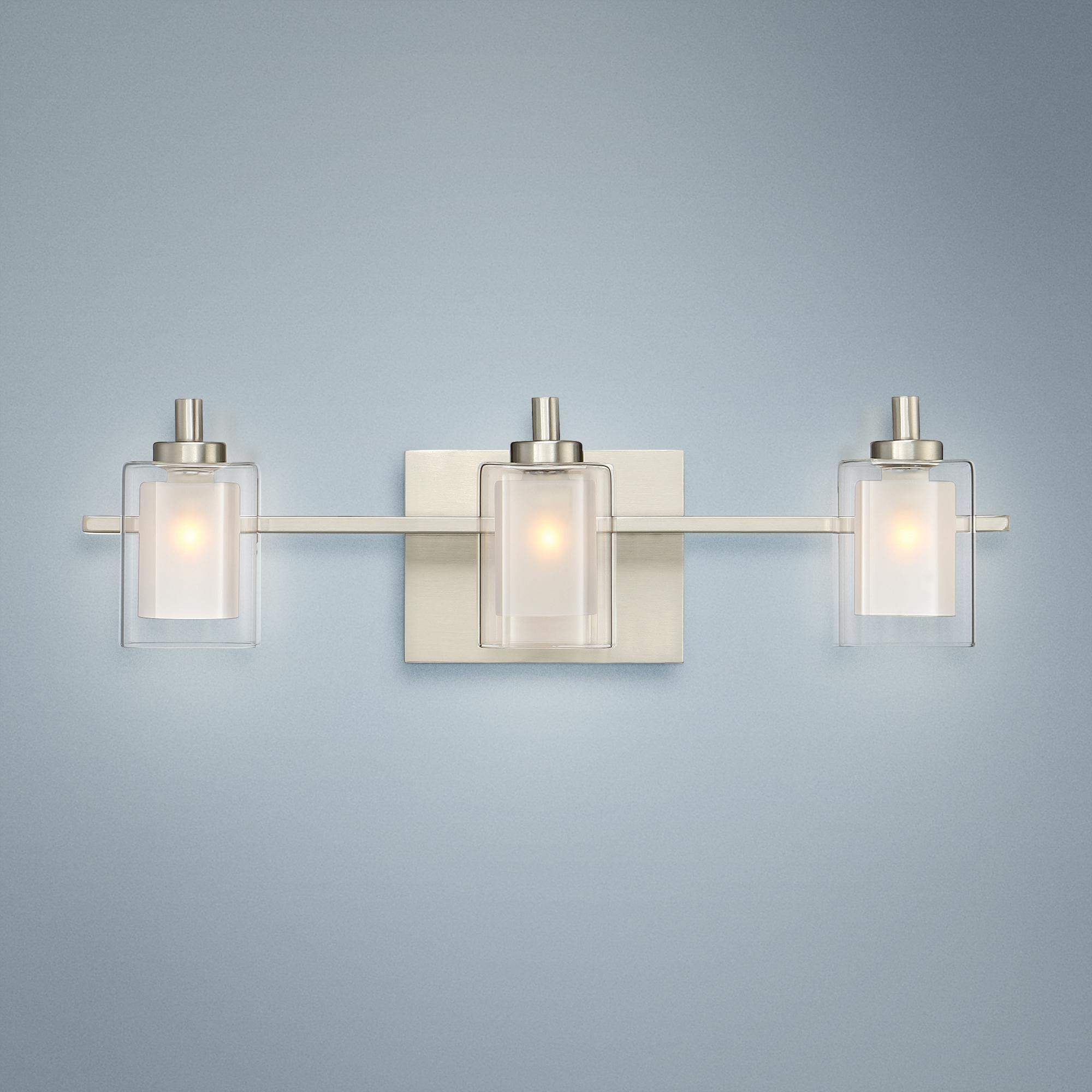 Bathroom Lighting Quoizel Kolt 21 Wide Brushed Nickel Led Bath Light Bath Light Bathroom Light Fixtures Led Vanity Lights