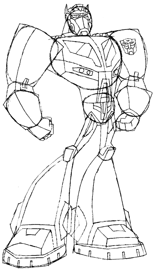 How To Draw Optimus Prime Transformers In Step By Step Drawing