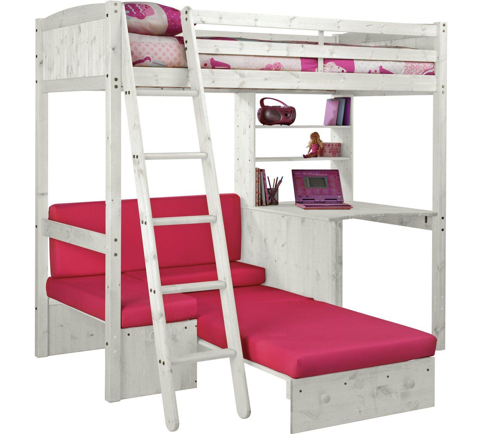 Buy HOME Classic High Sleeper Bed & Sofa Bed Fuchsia