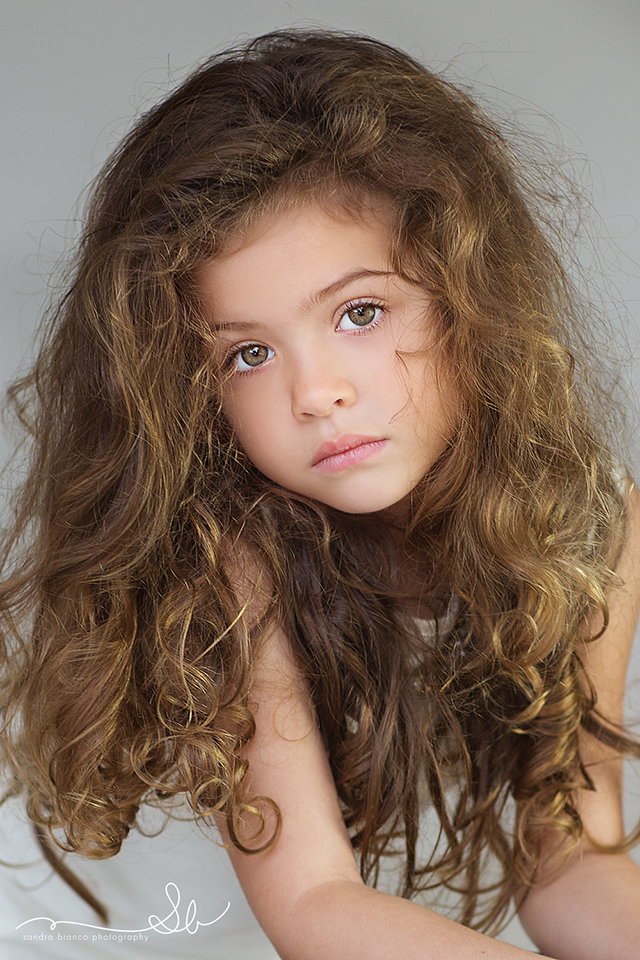 Beautiful hair...wish she were smiling!