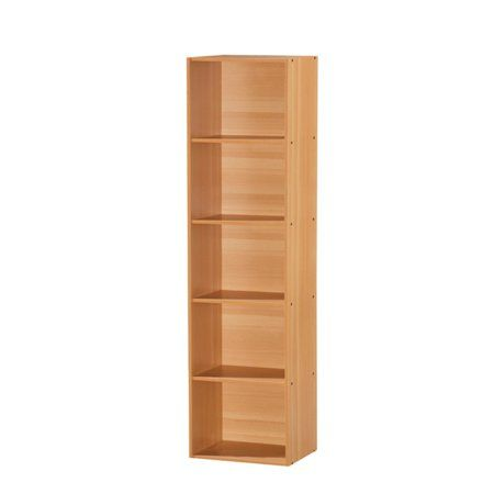 Hodedah Imports Five Shelf Bookcase - Walmart com | EC: Sis