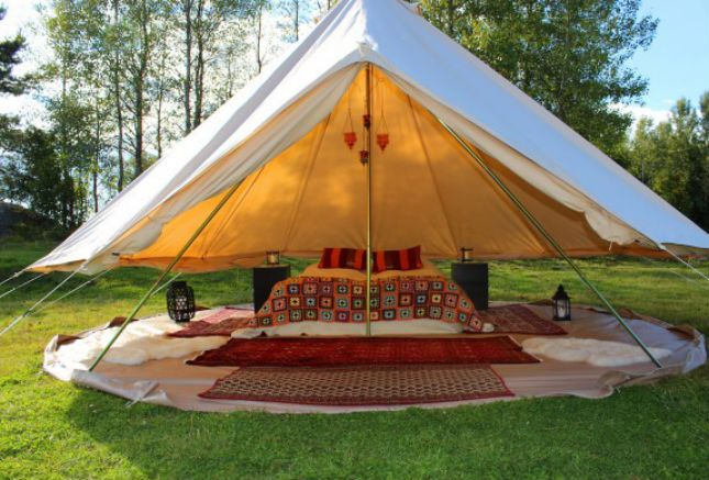 Gl&ing in Sweden - Gotland Gl&ing Bell Tent C&ing & This glamping hideaway is on the Swedish island of Gotland in the ...