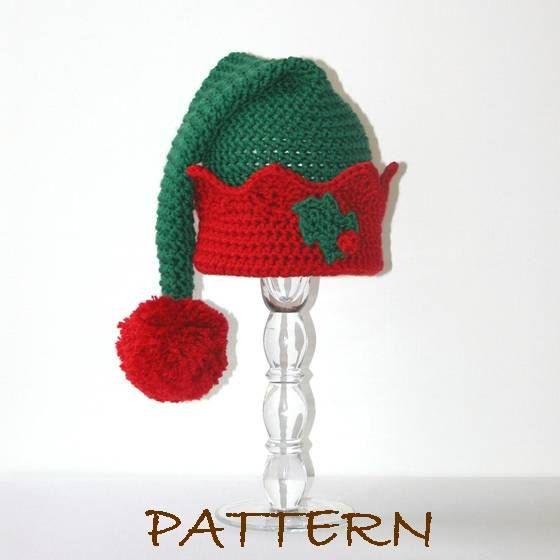 PDF Christmas Elf Hat Crochet PATTERN 3 by hookedandchained ...
