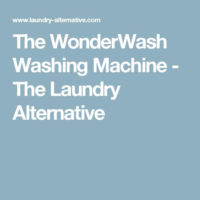 The Wonder Wash Portable Washer Dryer Laundry Alternative