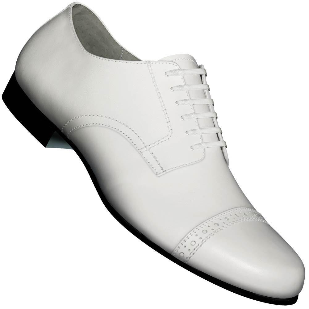 Aris Allen Men's 1930s White Captoe