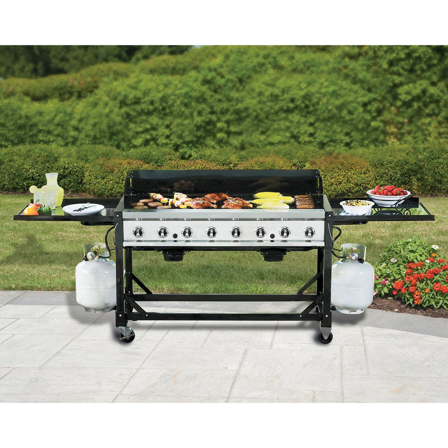 party time is no problem with this gas grill as you can cook up to