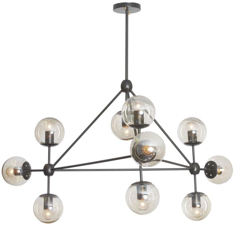 Dainolite Dmi 4410c Domi 10 Light 44 Wide Single Tier Abstract Chandelier Matte Black Indoor Lighting Chandeliers