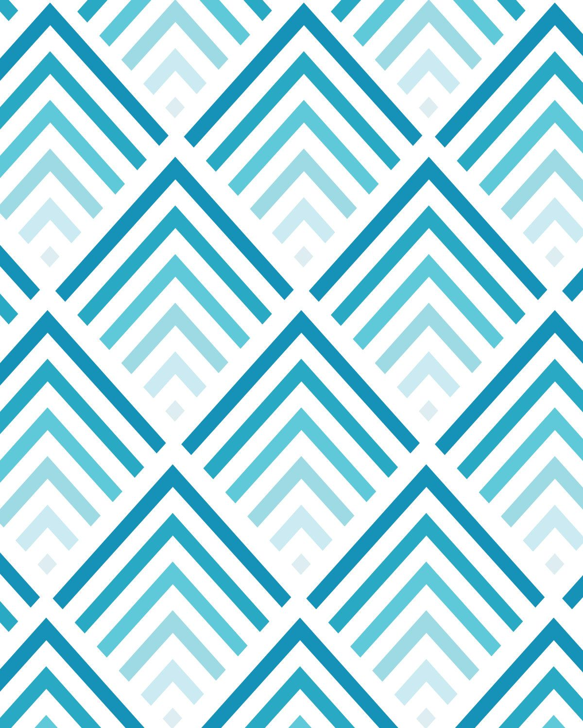 shades of blue chevron pattern 8x10 inch art print 17
