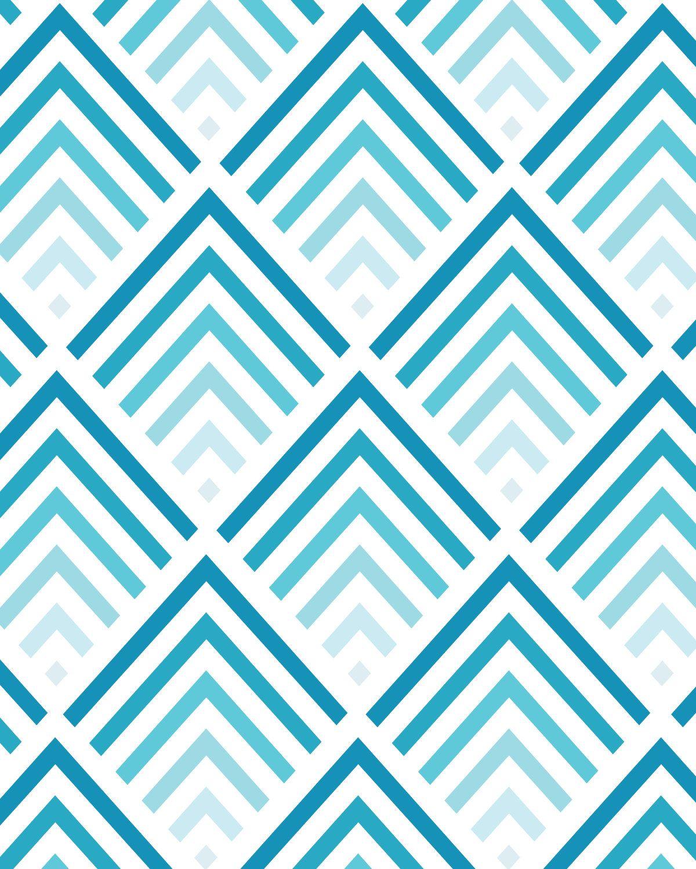 Shades of Blue Chevron Pattern 8x10 inch Art Print. 17