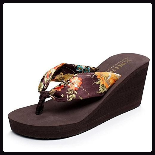 RuiShapes Slippers Damen Sandalen dicker Boden Hang mit Strand Schuhe