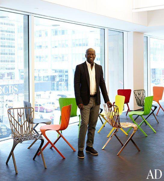 David Adjaye With His Washington Skin And Washington Skeleton Chairs For  Knoll.