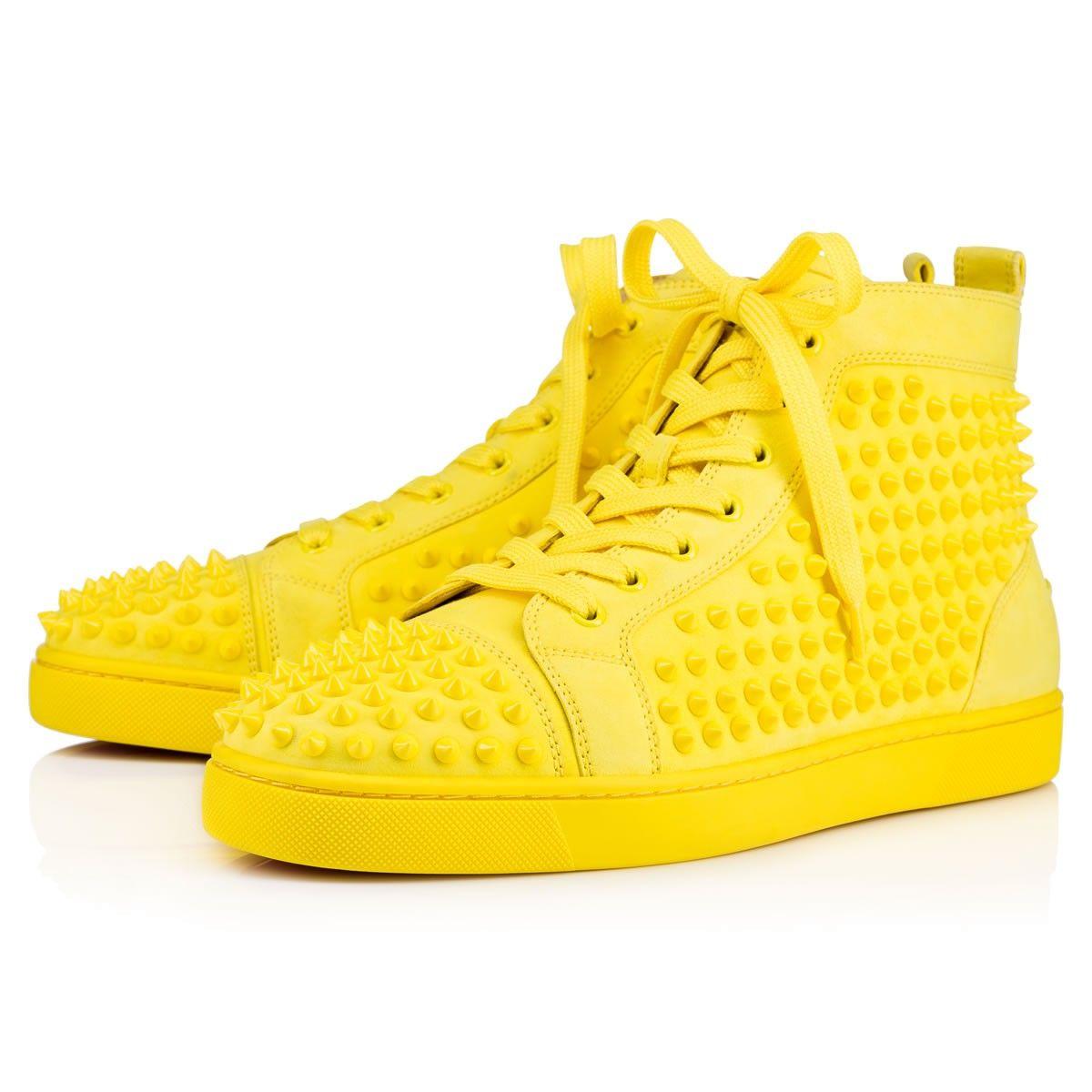 christian louboutin yellow sneakers
