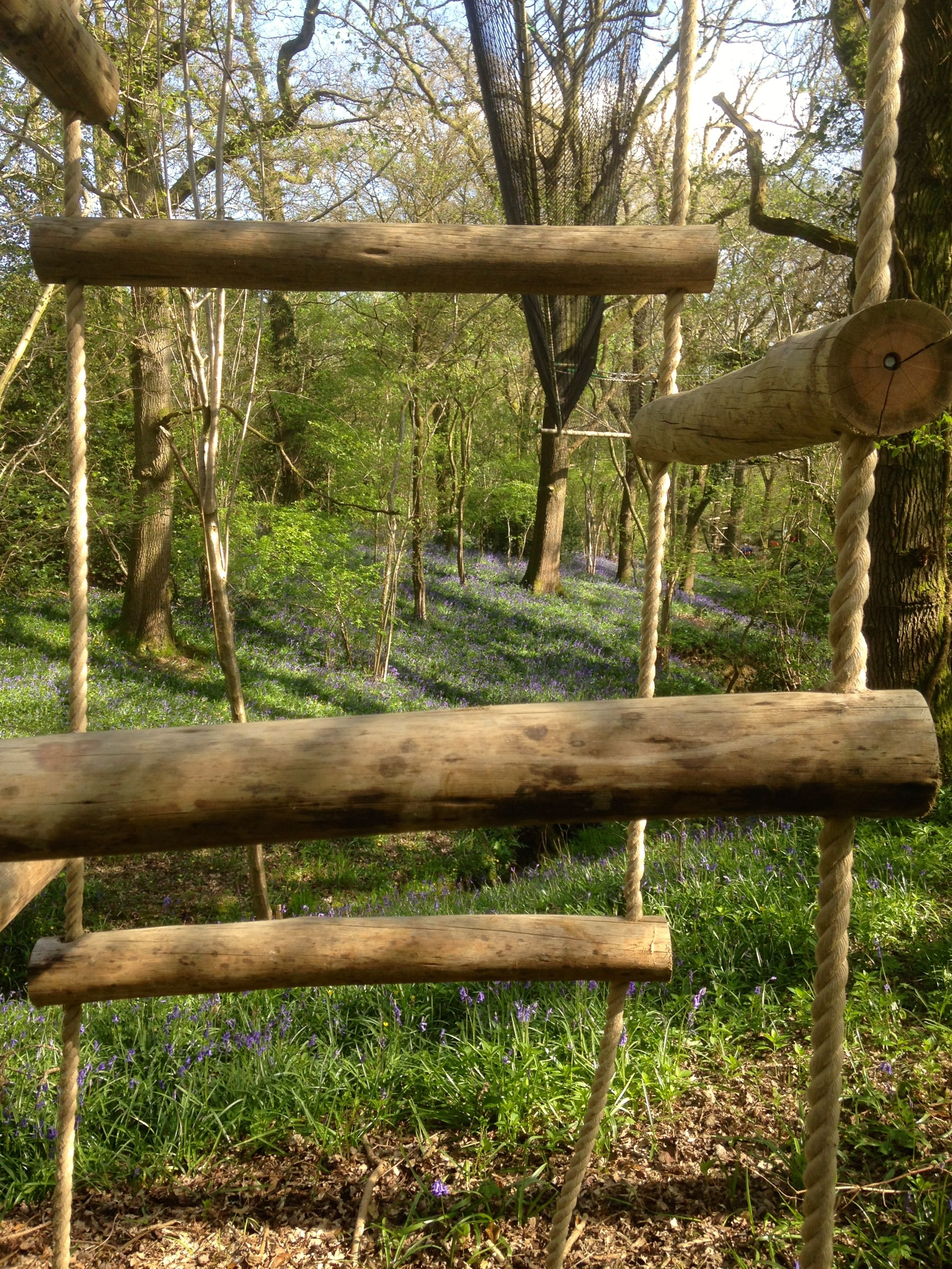 Eucalyptus 4 sided Rope Ladder in a beautiful