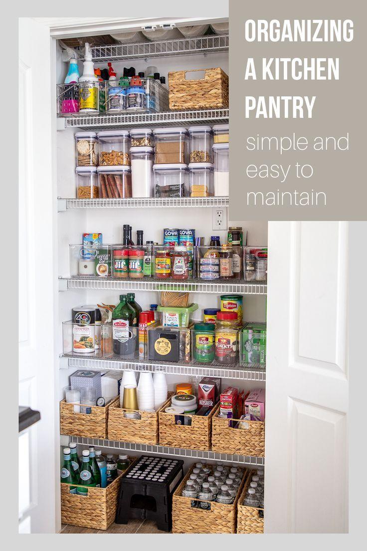 25 Best Pantry Organization Ideas We Found On Pinterest Godiygo Com Kitchen Organization Pantry Home Organization Home Organisation