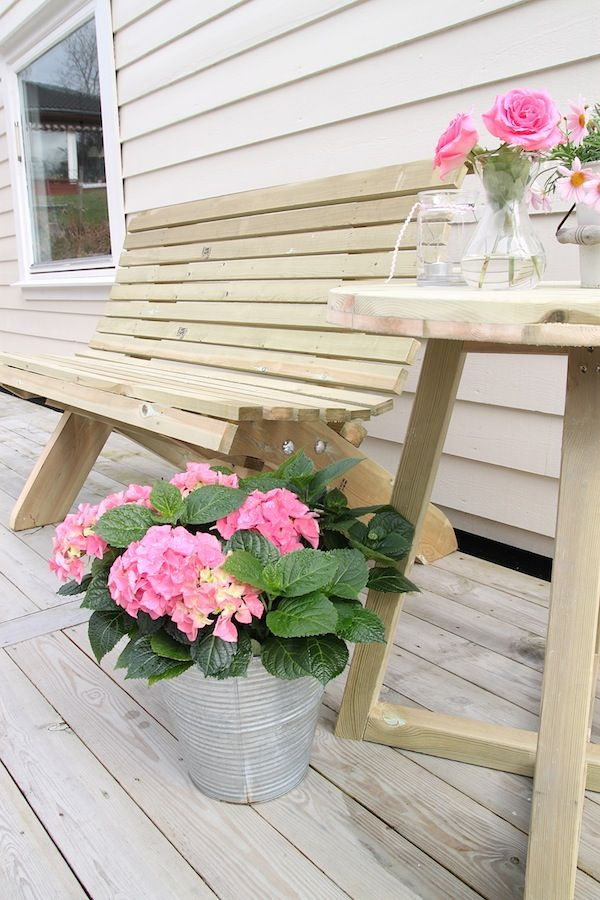 Barbara's small atelier: Homemade garden furniture