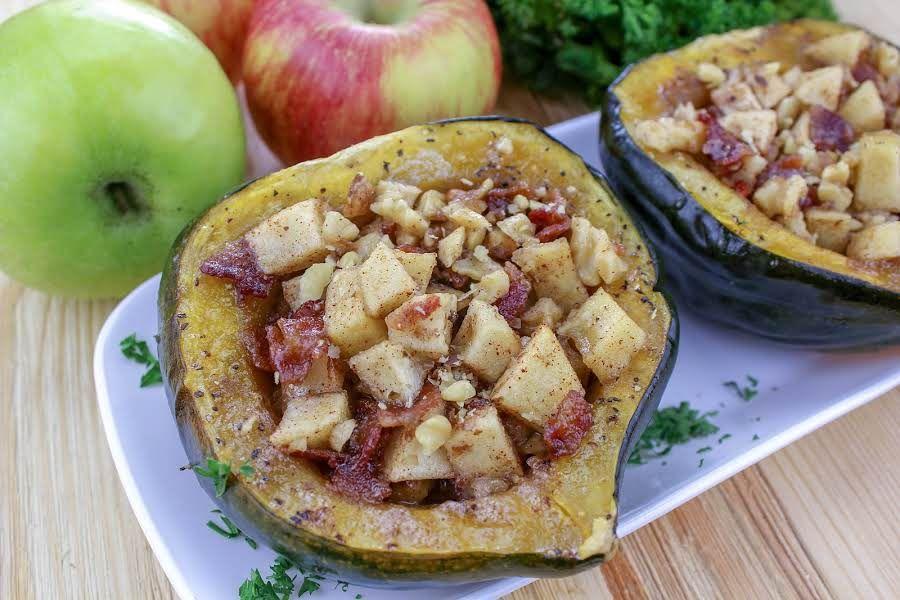 Apple Walnut Acorn Squash Recipe Acorn Squash Recipes Acorn