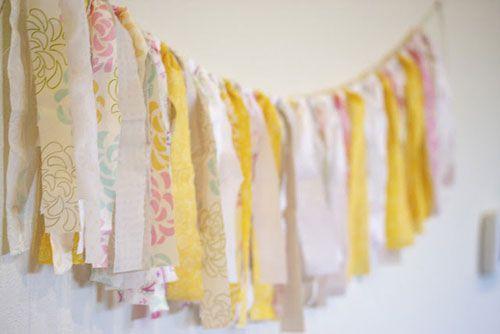 rustic vintage baby shower ribbon tassel banner DIY | Baby Shower ...