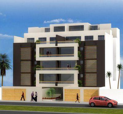 Fotos de fachadas de edificios de 4 y 5 pisos para for Edificios modernos minimalistas