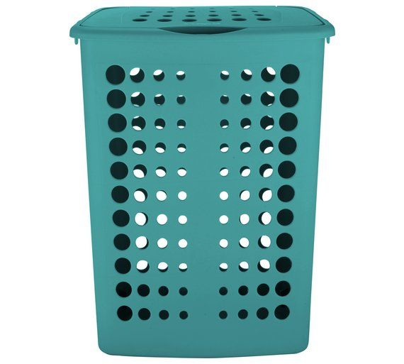 Buy Colourmatch 40 Litre Laundry Hamper Teal At Argos Co Uk