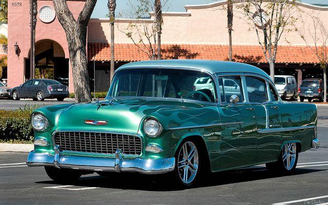 1955 chevy bel air 4 door sedan green fvl bel air for 1955 chevy 4 door sedan