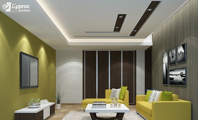 Saint gobain gyproc hindistan oda tavan tasar mlar ya am for Living room designs pop