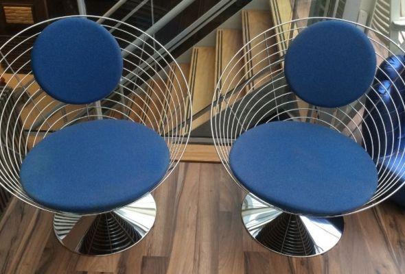 verner panton, wire cone chair, fritz hansen,  - Smølclassics designklassiekers om (van) te smøllen