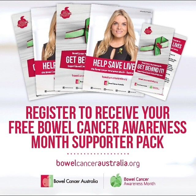1 day to go - as we count down to Bowel Cancer Awareness Month 2016 we're sharing some of our top tips for getting involved this June.  Show your support for Bowel Cancer Australia and Bowel Cancer Awareness Month with one of our FREE Supporter Packs.  Spread the important bowel cancer awareness message this June.  Bowel Cancer Awareness Month Supporter Packs now available at >> http://ift.tt/25vyCuE  #BowelCancerAustralia #GetBehindIt by bowelcanceraustralia