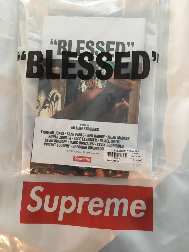 9fa45d91ab09 IN HAND Supreme BLESSED Tee Shirt Size Medium and DVD Bundle FW18 #fashion  #clothing #shoes #accessories #mensclothing #shirts (ebay link)