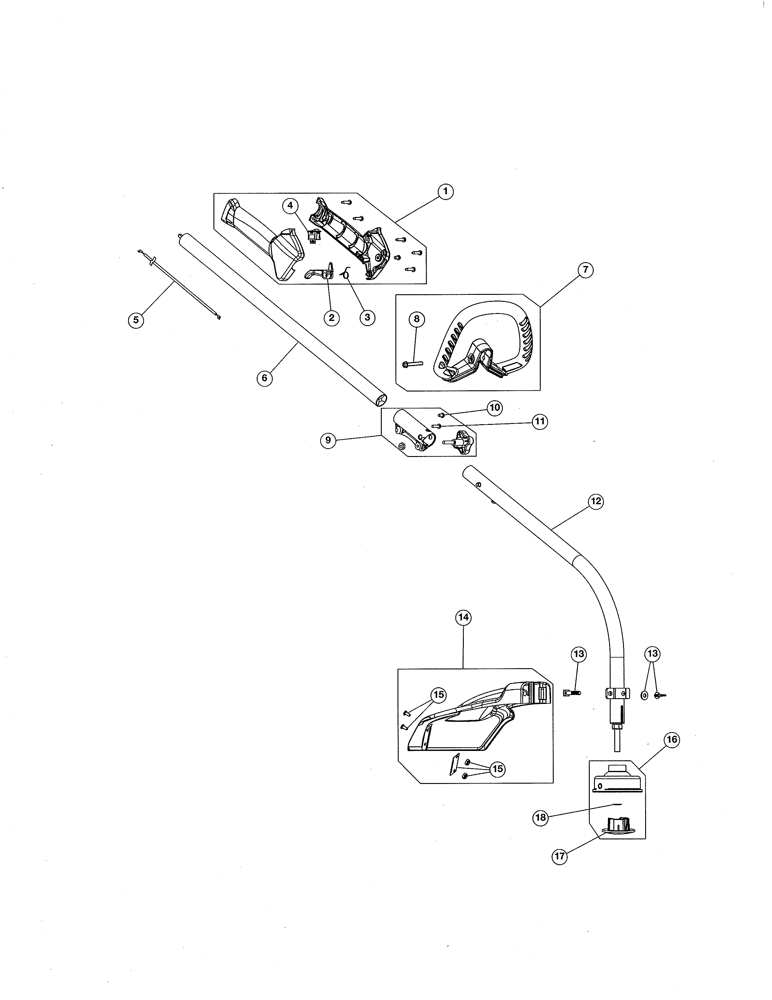 mtd gas trimmer model 41adz45c799 drive shaft handle shield parts diagram [ 2550 x 3300 Pixel ]