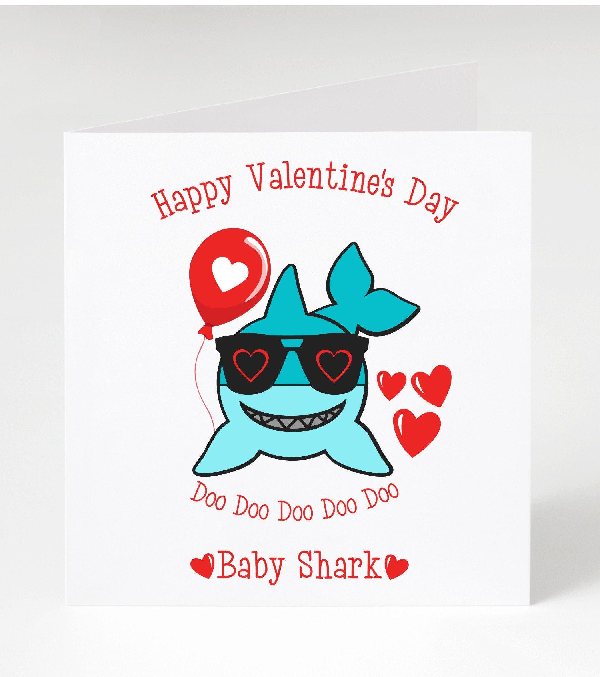 valentine card  baby shark  valentine day  valentine