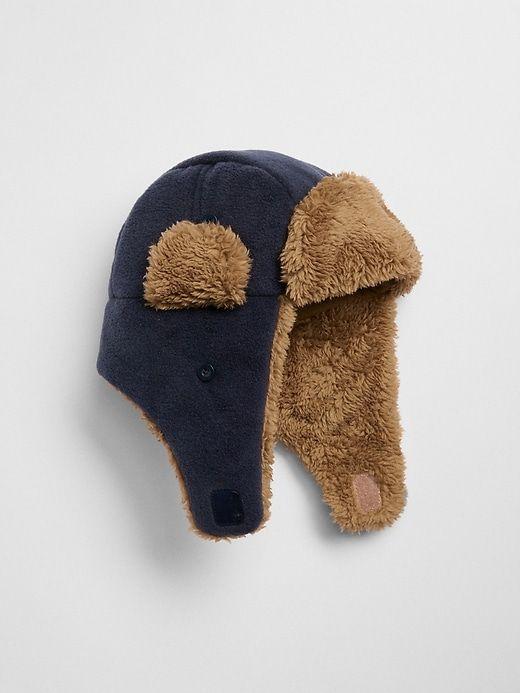 f46bcbe2f6b Gap Babies  Faux-Fur Trapper Hat True Indigo