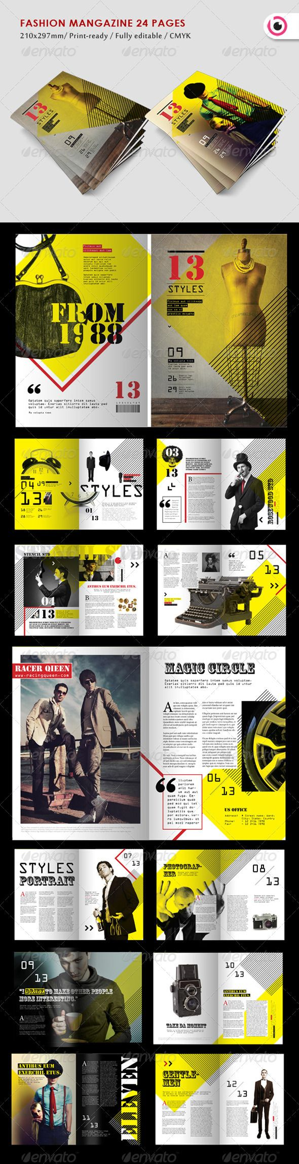 Fashion Style Magazine - GraphicRiver Item for Sale