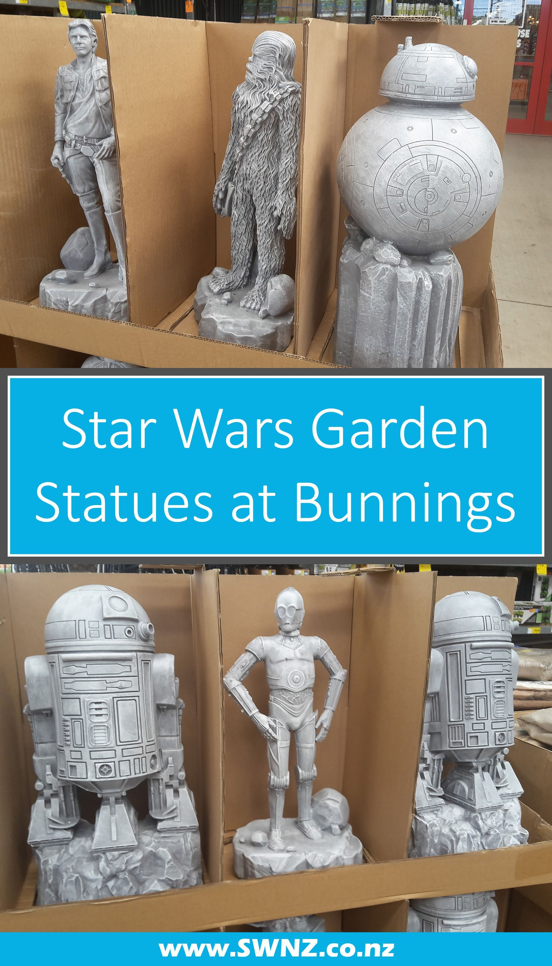 Theyre Back Star Wars Garden Statues At Bunnings Swnz Star Wars New Zealand Star Wars Bb8 Ideas Of Star Wars B Star Wars Diy Star Wars Decor Star Wars Bb8