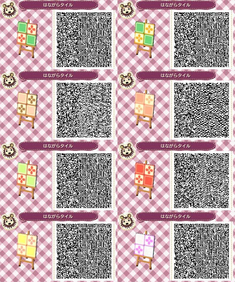 Kitchen tiles patterns animal crossing new leaf qr codes for Wood floor qr code animal crossing