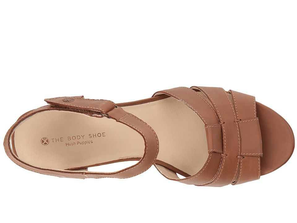 51a785046a0 Hush Puppies Masseter Quarter Strap Women's Dress Sandals Tan ...