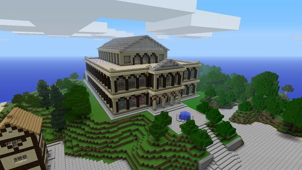 cool minecraft house designs hative houses blueprints also theater idea rh cz pinterest