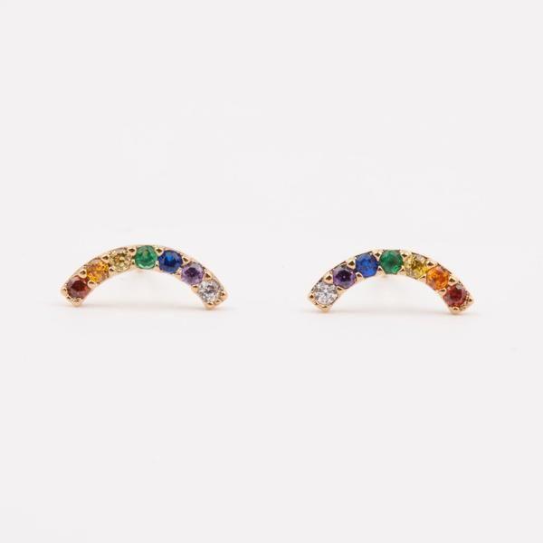 7ff665bee Rainbow Jewelry | New wardrobe!! | Pinterest | Stud Earrings ...