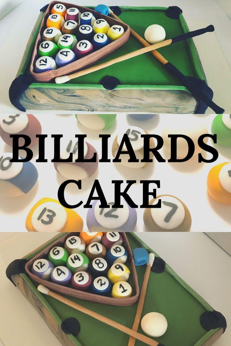 Billiards cake pasteltorta de mesa de pool in 2020