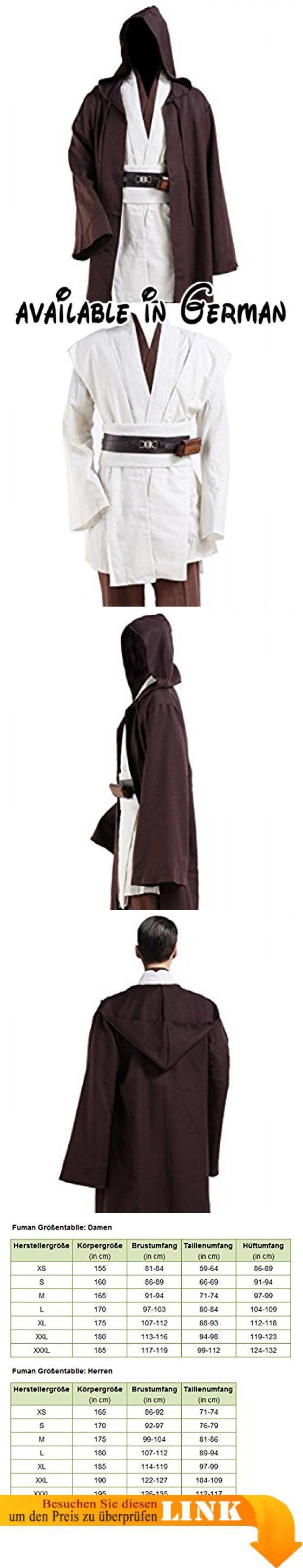 Fuman Star Wars Kenobi Jedi TUNIC Cosplay Kostüm für Erwachsene XXXL ...