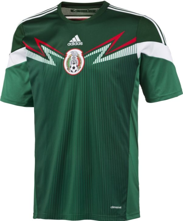 c43eaf45a63 Mexico 2014 15 Soccer Jersey- Adidas Mexico Home 2014 Kit