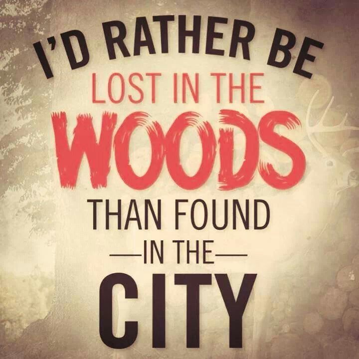 Woods Quotes: I'd Rather Be Lost In The Woods Than Found In The City