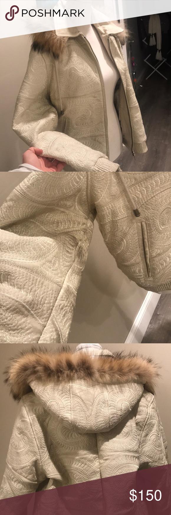 Vintage Vilanto Leather Jacket White Leather Jacket Leather Jacket Jackets [ 1740 x 580 Pixel ]