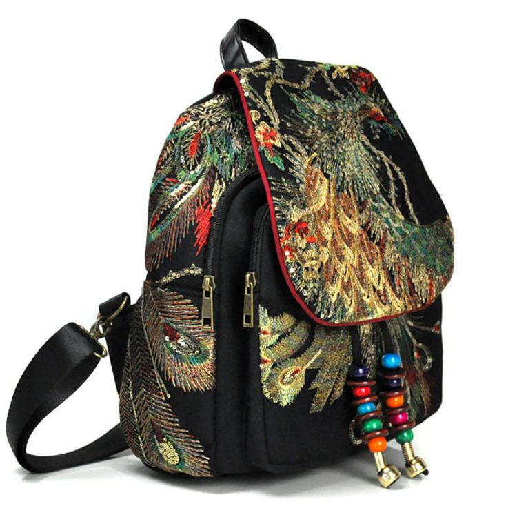 Fashionable embroidery backpacks girls special bags inventive gift for women4