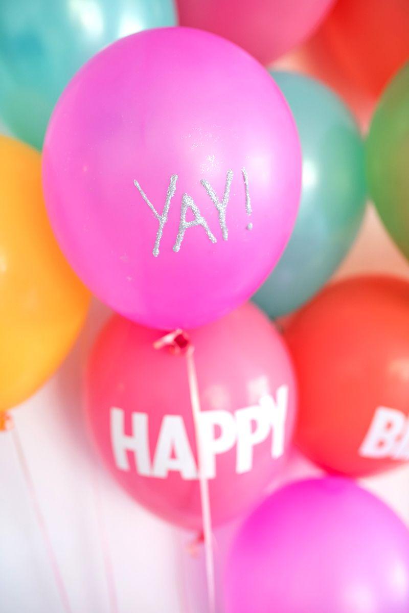 6 Ways To Write On A Balloon | celebrate | Pinterest | Glitter ...