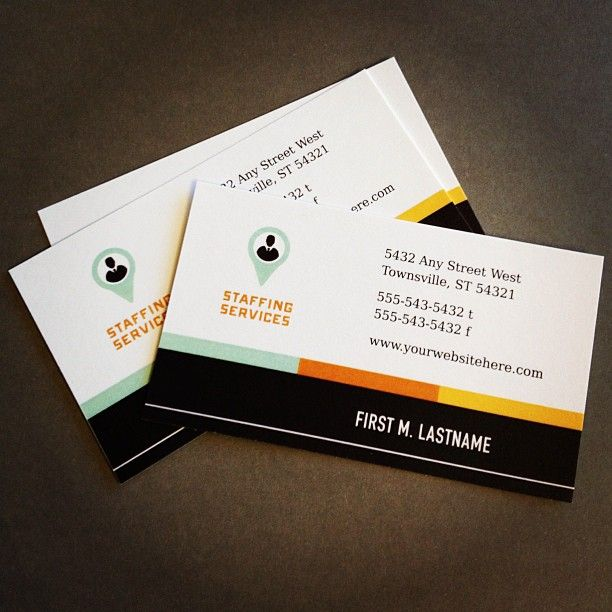 Recruiter Business Card \ Letterhead Template by @StockLayouts - fresh sample business blueprint download