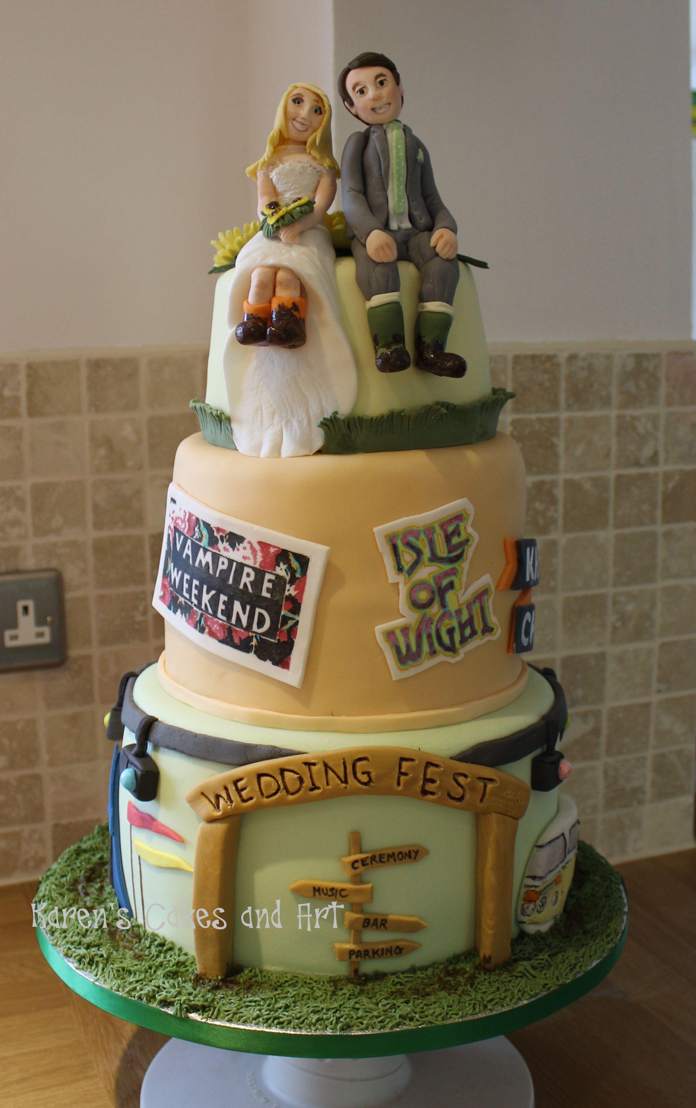Music Festival Wedding Cake Isle Of Wight Vampire Weekend