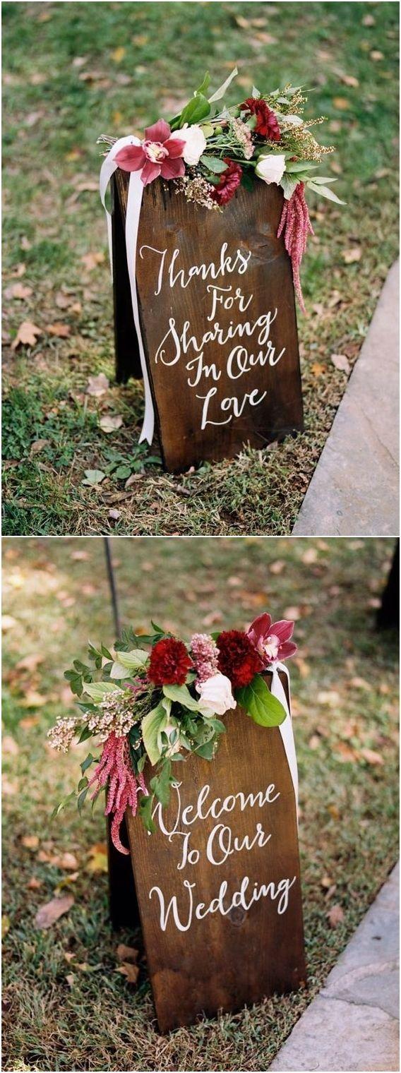 burgundy deep red wedding color ideas -