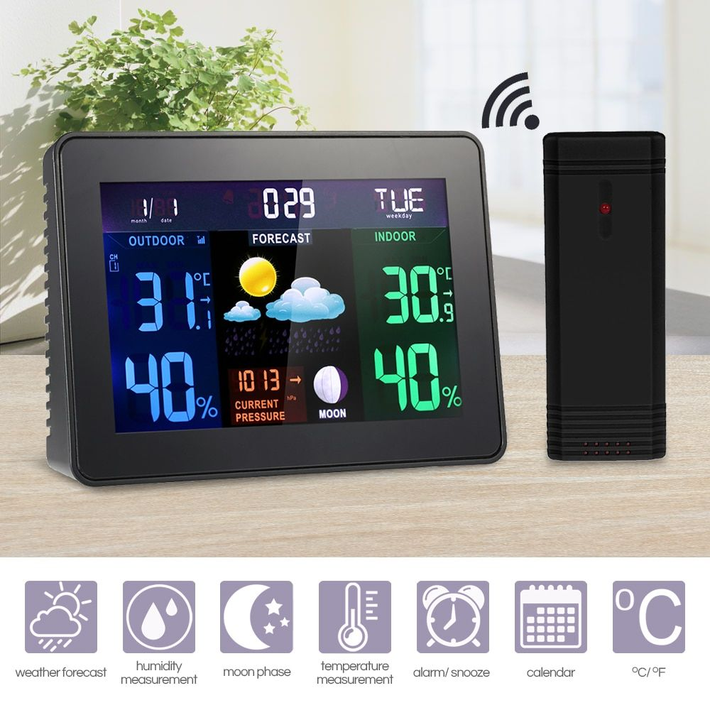 LCD Thermometer /& Hygrometer mit Fühler Lieferung aus DE