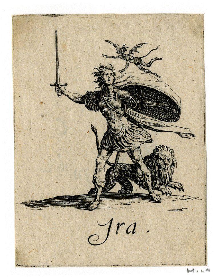 Jacques Callot Ira Seven Deadly Sins Occult Art 7 Sins